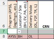 Image: Viewing Copied Row in Excel