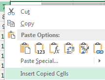 "Image: Selecting ""Insert Copied Cells"" in Excel"