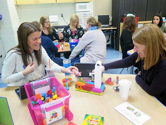 Elementary teachers meet during Superintendent's Conference