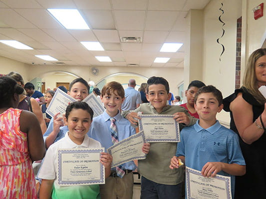 Fifth-graders move up!