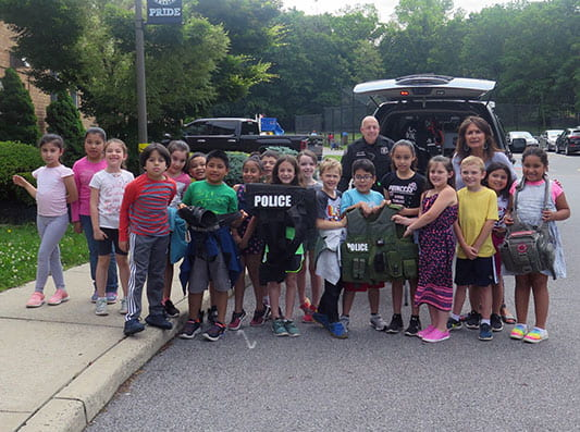 Suffern Fire & Police Departments Visit RP Connor