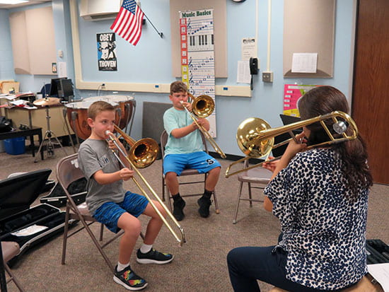 Our Fourth-graders Start Band and Orchestra Lessons