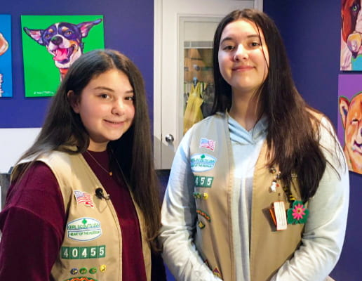 SMS Girl Scouts Work Toward Silver Award