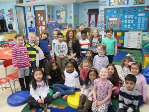 STudents with Acting Superintendent Lisa Castaldo