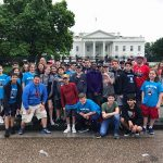 8th graders outside of the white house