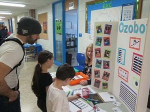 students at the steam expo