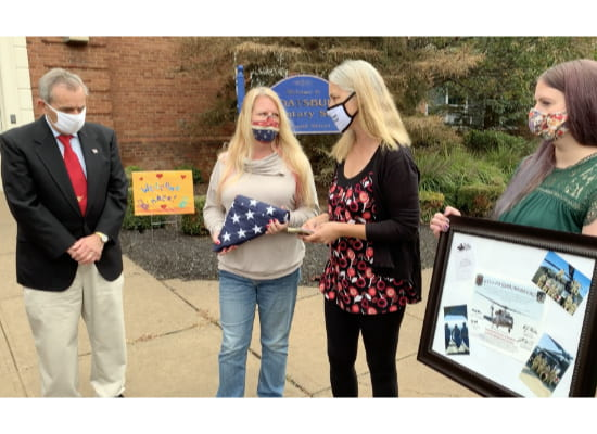 SES Receives Military Flag