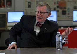 President E. Gordon Gee speaks to The Lantern editorial board in April 2012.