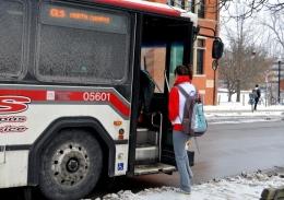 An OSU CABS bus struck a bicyclist on Summit Street June 26.