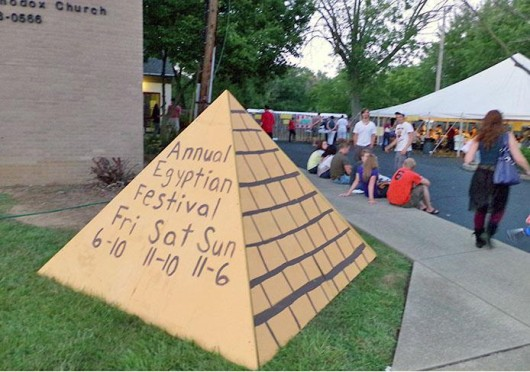 The 19th annual Egyptian Festival took place Aug. 23-25 at the St. Mary's Coptic Orthodox Church. Credit: Shannon Clary / Lantern reporter