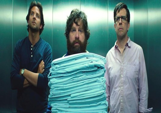 Bradley Cooper, left, Zach Galifianakis, middle, and Ed Helms, right, star in 'The Hangover Part III,' which opened in theaters May 23. Credit: Courtesy of MCT