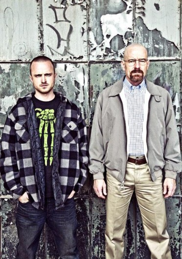 Jesse Pinkman (Aaron Paul), left, and Walter White (Bryan Cranston) in AMC's 'Breaking Bad.' Credit: Courtesy of MCT