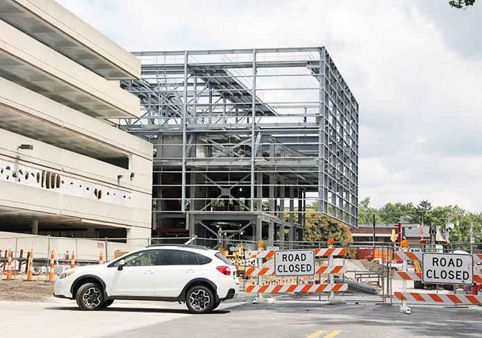 Though Arps Garage reopened before Fall Semester, the $3M renovation project is not yet complete. Credit: Ritika Shah / Asst. photo editor