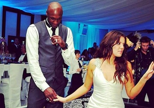 Khloe Kardashian (right) with husband Lamar Odom. Rumors recently emerged that Odom has been going through a crack cocaine addiction. Credit: Courtesy of Facebook