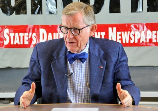 Former OSU president E. Gordon Gee in a Sept. 10 interview with The Lantern. Credit: Lantern file photo