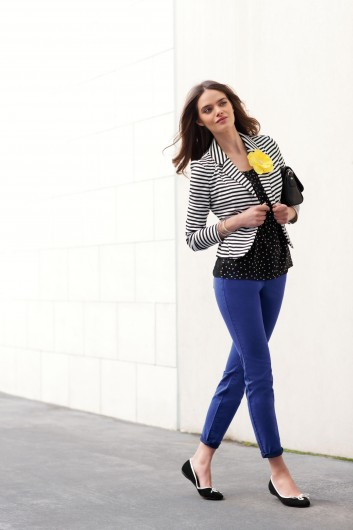 Opt for comfort on the first day of school with a pair of skinny jeans. Credit: Courtesy of MCT