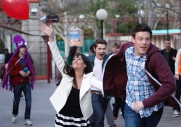 Lea Michele (right) and Cory Monteith act in a Season 3 episode of 'Glee.' Monteith was found dead in a Vancouver hotel at 31 on July 13.