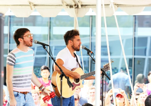 Walk the Moon performs at Buck-i-Frenzy Aug. 20. The band is slated to play Aug. 30 at the LC Pavilion. Credit: Shelby Lum / Photo editor