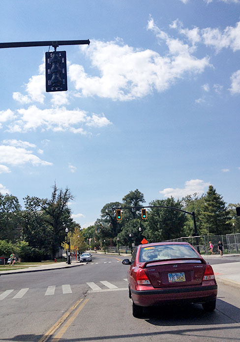 A traffic light was installed at 12th Avenue and College Road. Credit: Shelby Lum / Photo editor