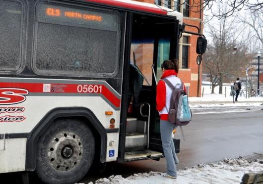 An OSU CABS bus struck a bicyclist on Summit Street June 26. Credit: Lantern file photo