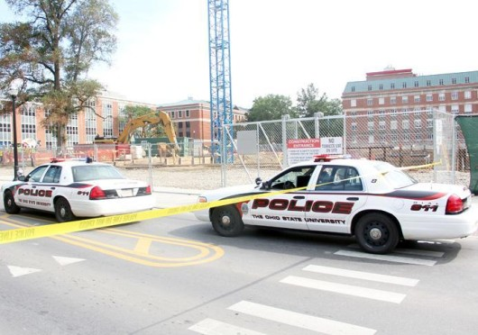 An attempted armed robbery reported on Woody Hayes Drive led to University Police issuing a public safety notice for Ohio State's campus Monday evening. Credit: Daniel Chi / For The Lantern