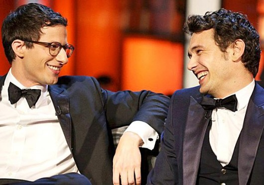 Andy Samberg, left, and James Franco on the set of 'The Comedy Central Roast of James Franco.' Credit: Courtesy of Facebook