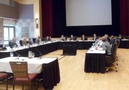 The OSU Board of Trustees meets Aug. 30 at the Ohio Union. Credit: Daniel Bendtsen / Lantern reporter