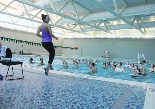 Aqua ZUMBA is one of three new classes offered at the RPAC during Fall Semester. Credit: Shelby Lum / Photo editor