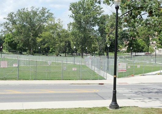 With construction wrapping up on the South Oval, some students are excited to spend time on the previously off-limits area of campus.