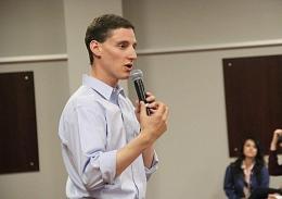 State Treasurer and Republican Ohio Senatorial candidate Josh Mandel speaks to a crowd at the Ohio Union Oct. 24. Credit: Andrew Keller / Lantern photographer
