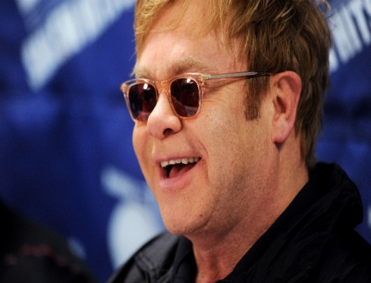 Elton John attends a press conference for the World Team Tennis Smash Hits charity event at American University in Washington, D.C., Nov. 15, 2010. Credit: Courtesy of MCT