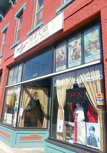 Bossy Grrl's Pin Up Joint, located at 2598 N. High St., is a coffee shop which is centered around the community of burlesque.  Credit: Kim Dailey / Lantern reporter