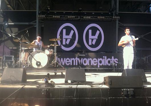 Columbus band Twenty One Pilots play at the Breakaway Music Festival Sept. 14 at the Columbus Crew Stadium. Credit: Daniel Fyffe / Lantern reporter