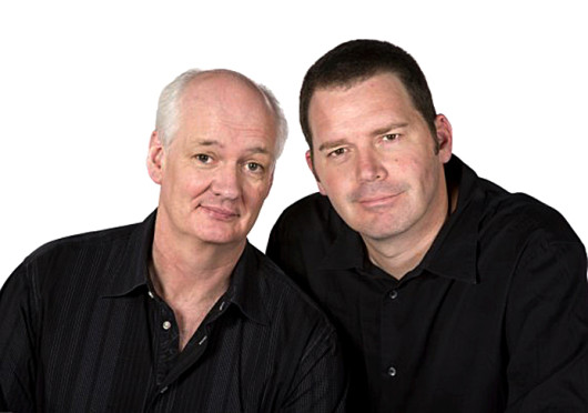 Colin Mochrie, left, and Brad Sherwood. The improv comedians are slated to perform their show 'Colin Mochrie & Brad Sherwood: Two Man Group' at 8 p.m. Sept 16 in the Archie M. Griffin Grand Ballroom. Credit: Courtesy of Facebook