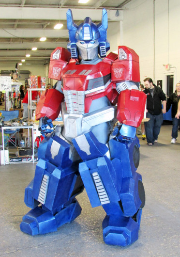 Eric Moran, from Philadelphia, dons his Optimus Prime costume, from the movie 'Transformers.' Credit: Courtesy of Lamont Abrams