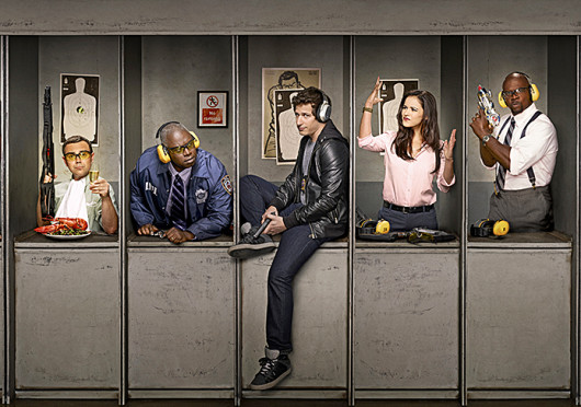 Left to right: Stephanie Beatriz, Joe Lo Truglio, Andre Braugher, Andy Samberg, Melissa Fumero and Terry Crews. 'Brooklyn Nine-Nine' is set to premiere Sept. 17 at 8:30 p.m. Credit: Courtesy of Fox