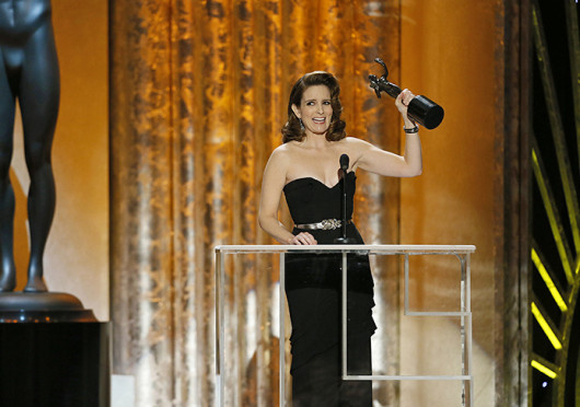 Tina Fey backstage at the 19th annual Screen Actors Guild Awards in January. Fey is scheduled to host 'Saturday Night Live's' season 39 premiere Sept. 28. Credit: Courtesy of MCT