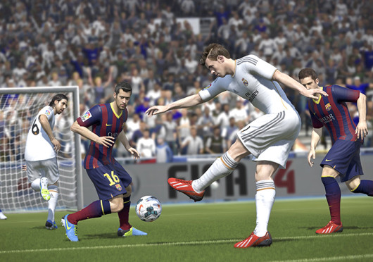 A screen shot from video game, FIFA 14, which was released Sept. 24. Credit: Courtesy of MCT