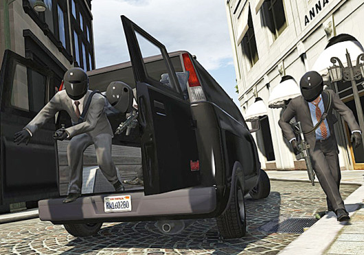 A screen shot from the game 'Grand Theft Auto V,' which was released Sept. 17 and made around $800 million its first day.  Credit: Courtesy of MCT