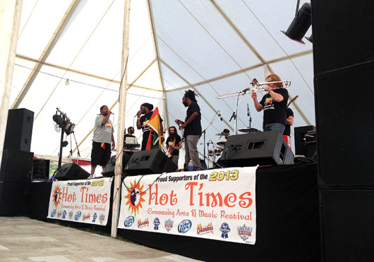 The Hot Times Community Music and Arts Festival was held Friday through Sunday at the intersection of Parsons Avenue and Main Street. Credit: Shannon Clary / Lantern reporter