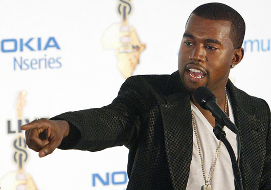 Kanye West at Live 8 in Philadelphia, Penn., July 2, 2005. West recently took to Twitter with complaints of Jimmy Kimmel poking fun at West's BBC Radio 1 interview. Credit: Courtesy of MCT