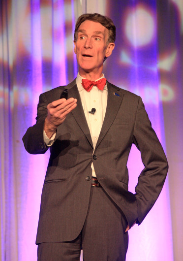 Bill Nye 'The Science Guy' talking to students on campus on May 21. Nye will appear on 'Dancing with the Stars,' premiering Sept. 16. Credit: Lantern file photo