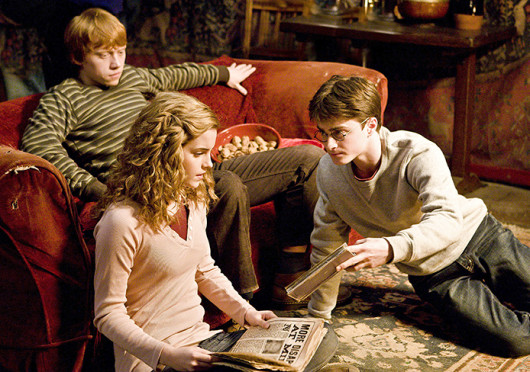 Emma Watson, left, Rupert Grint, middle, and Daniel Radcliffe in 'Harry Potter and the Half-Blood Prince.' Rumors have circulated about J.K. Rowling writing an eighth 'Harry Potter' book. Credit: Courtesy of MCT