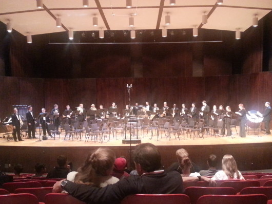 The OSU Wind Symphony performed its first concert of the season Sept. 26 at Weigel Hall.  Credit: Kim Dailey / Lantern reporter