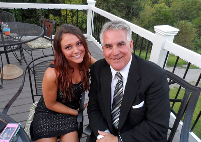 Maria Tiberi (left), a 21-year-old OSU student in communication, with her father, Dom Tiberi. Maria Tiberi died after a Sept. 17 car accident. Credit: Courtesy of 10TV