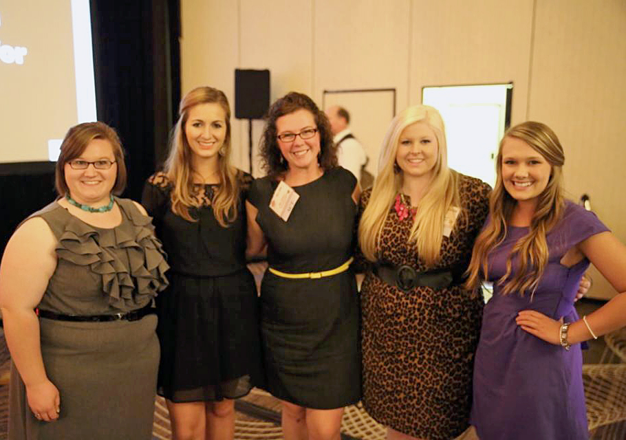 Ellen Gilliland (center) stands with the other Agricultural Communicators of Tomorrow. Credit: Courtesy of Ellen Gilliland