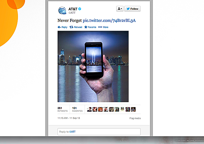 A screenshot of a tweet from AT&T. Many viewed the tweet as controversial. Credit: Courtesy of Twitter