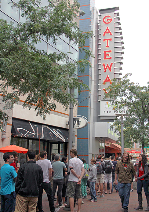 People line up at Gateway Film Center on High Street for a 'Breaking Bad' Finale Party the evening of Sept. 29. Credit: Ritika Shah / Asst. photo editor