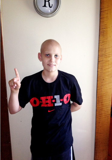 Grant Reed, age 12, and his family will attend the OSU football game against the Buffalo Bulls Saturday at Ohio Stadium. Photo courtesy of Troy Reed.