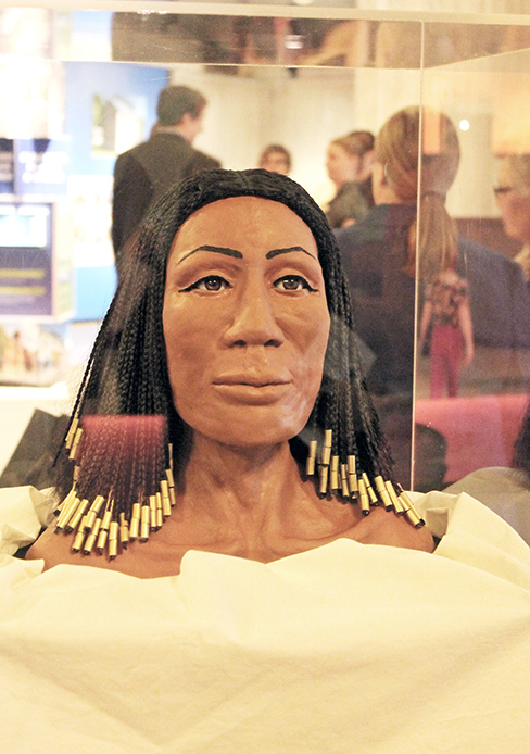 Alexandra Keenan-Krilevich's final facial reconstruction of Amunet at the Ohio History Center. Credit: Courtesy of Alexandra Keenan-Krilevich